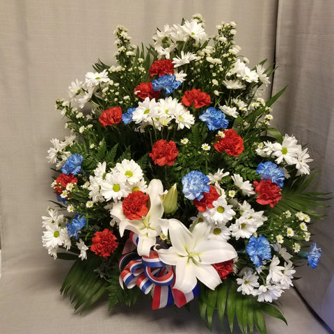 Traditional Arrangement - Designer's Choice - Red, White, and Blue