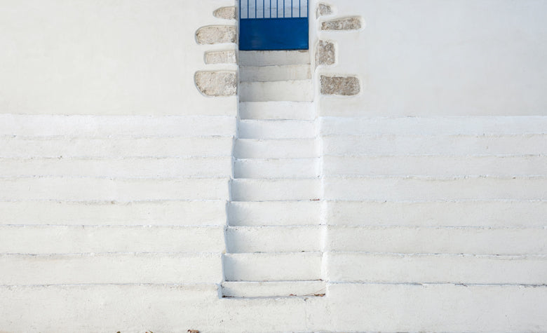 white washed Naxian doorsteps