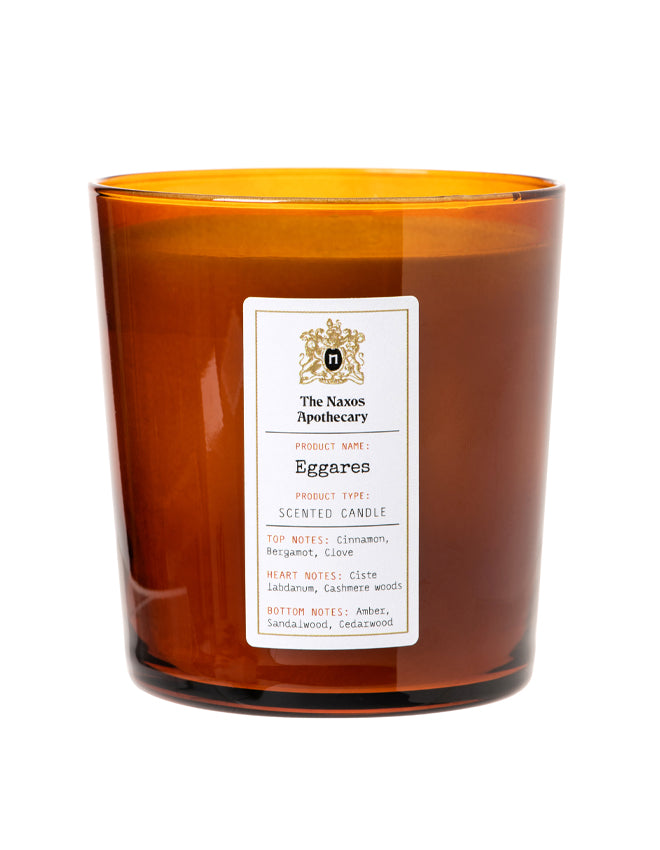 Eggares Scented Candle by The Naxos Apothecary