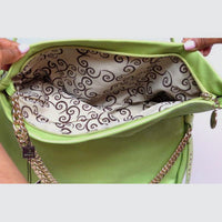Elegant Faux Leather Ladies Shoulder Bag- 9038CH