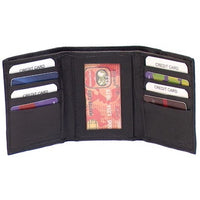 Genuine Leather Lambskin Men's Tri-fold Wallet - 4183