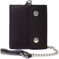 Genuine Lambskin Leather Men's Chain Wallet - 4225