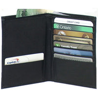 Genuine Leather Lambskin Men's Passport Card Wallet - 4240