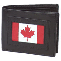 Genuine Leather Men's Wallet with Canada Flag - 4243