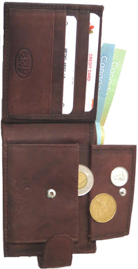 Genuine Cowhide Leather Men's RFID Wallet - 4507-L