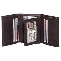 Genuine Leather Cowhide RFID Men's Tri-fold Wallet - 4584