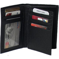 Genuine Leather Cowhide RFID Badge Wallet for Firefighters, Police - 4622