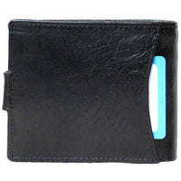 Genuine Cowhide Leather Men's RFID Wallet with 12 Card Slots & Change Pocket # 4689LR