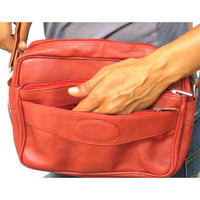 Elegant Leather Unisex SHOULDER BAG- Black, Red and Brown #7040