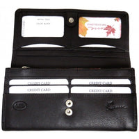 Genuine Cowhide Leather Ladies RFID Wallet- Red, Black, Tan & Brown #7502R