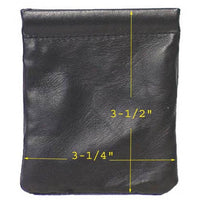 Genuine Lambskin Leather Squeeze Coin Purse BLACK #8029