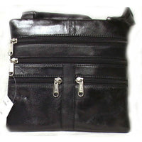 Genuine Lambskin Leather Women's Slim Cross Body Bag BLACK- # 8069