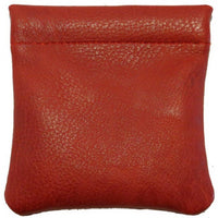 Elegant Leather Squeeze Coin Purse # 8729