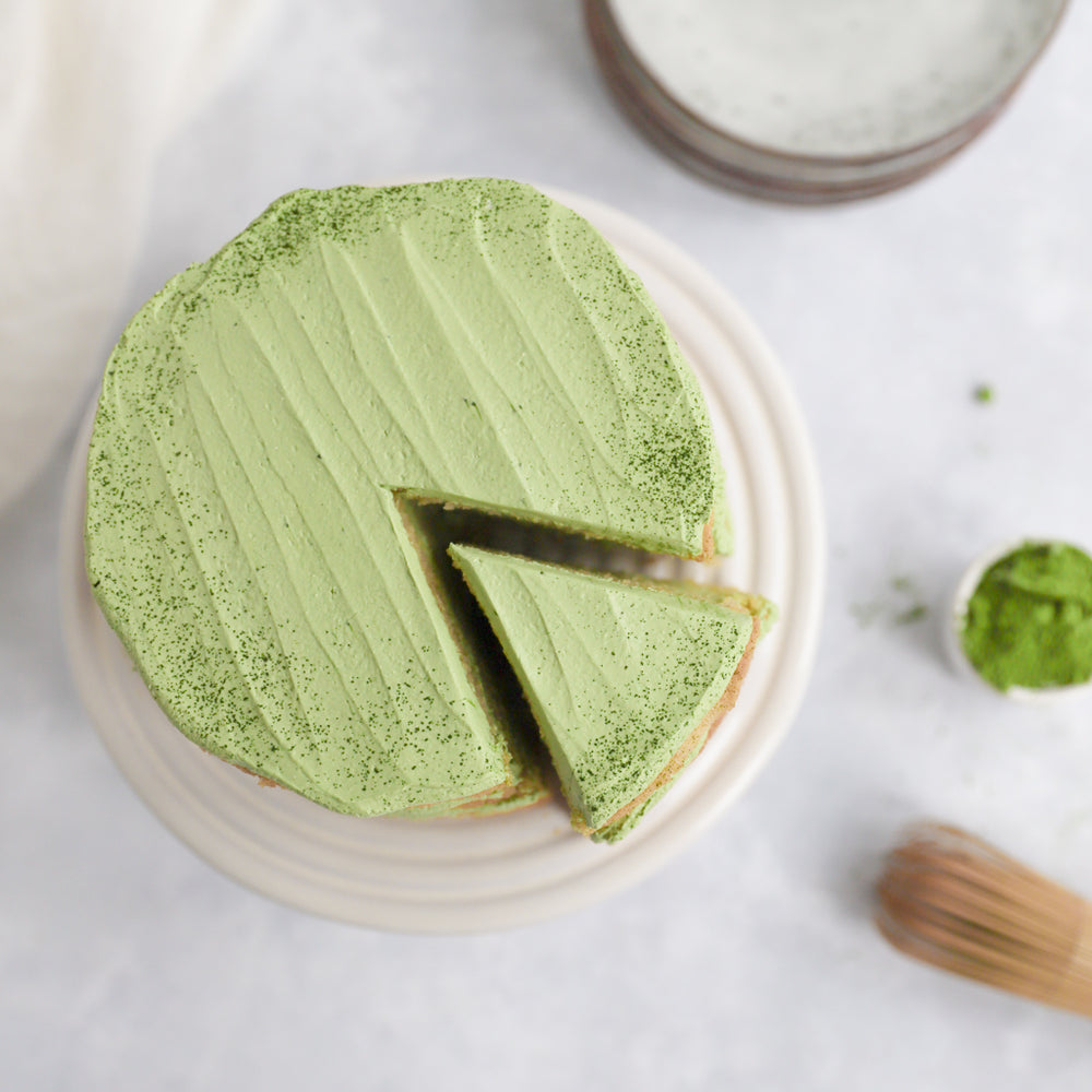 Matcha-Coconut Layer Cake