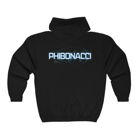 Phibonacci Unisex Zippy Hooded Sweatshirt