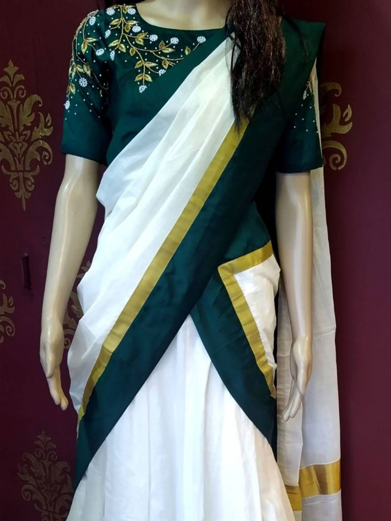Traditional half saree design 1