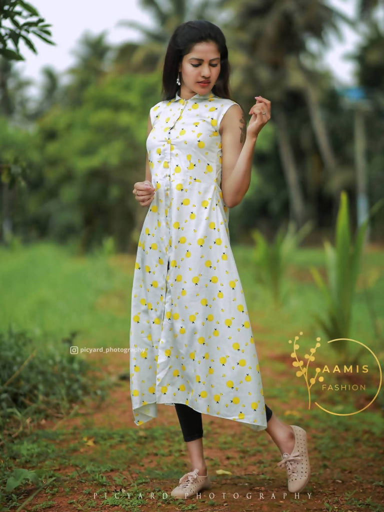 PRINTED COTTON CASUAL KURTI