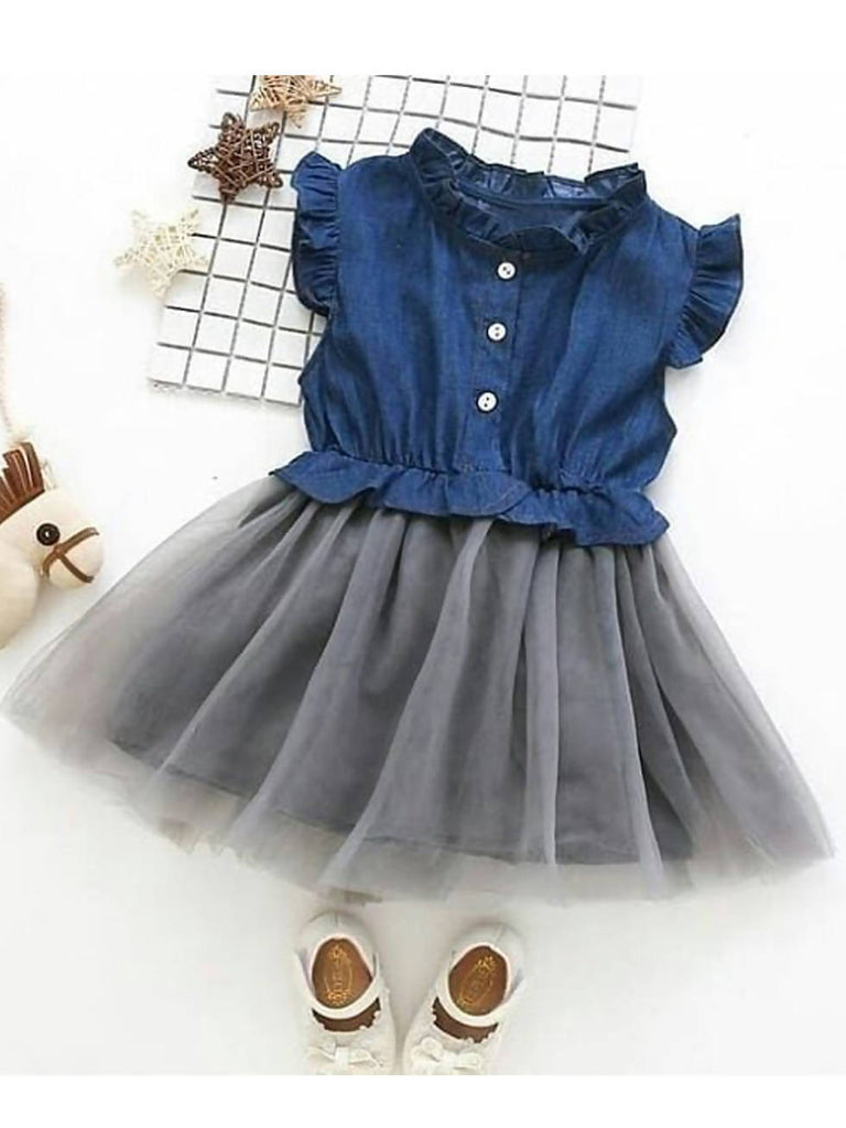 Denim Blue Color Frock