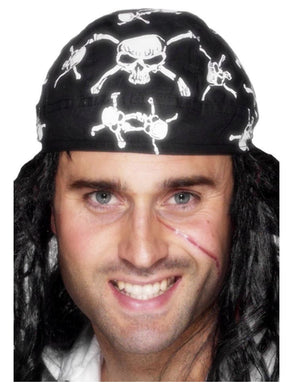 Pirate Bandana, Skull & Crossbones Design
