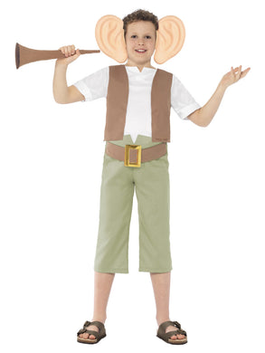 Roald Dahl Fancy Dress Costume, Green with Top, Trousers, Ear Headband and Dream Trumpet.