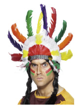 Load image into Gallery viewer, Native American, Inspired Headdress, Multi-Coloured