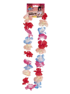 Multi-Coloured Hawaiian Garland with flowers to complete your Hawaiian look.