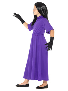 Children's Roald Dahl The Witches Costume, Purple, with Dress, Wig & Gloves
