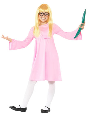Children's Roald Dahl Fancy Dress Deluxe Sophie Costume, Pink, with Dress, Glasses, Wig & Snozzcumber