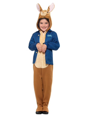 Peter Rabbit Deluxe Costume, Blue, with Jumpsuit, Hooded Character Head & Jacket.