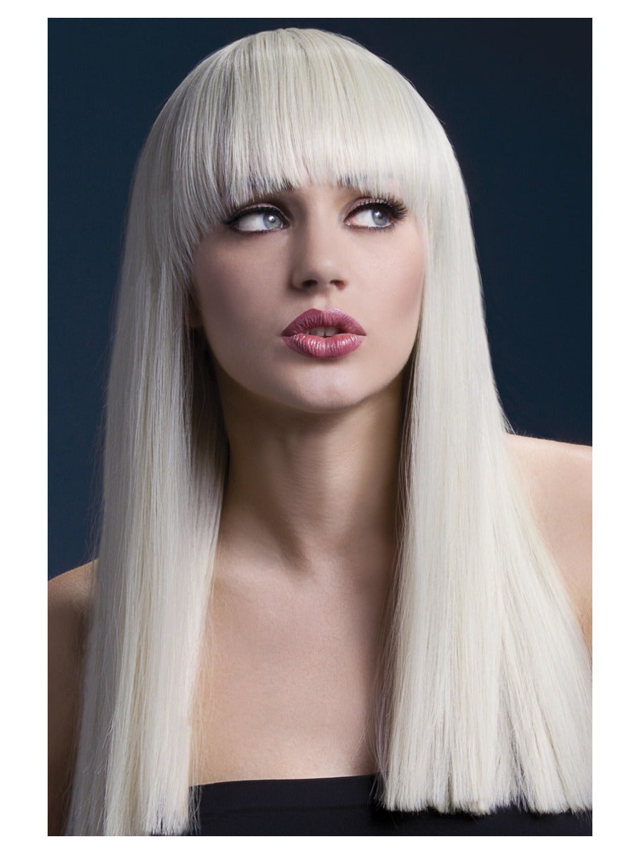 Fever Alexia Wig, Blonde, Long Straight Blunt Cut Wig with Fringe.  48cm/19''