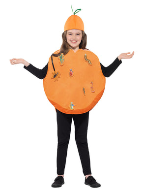 Roald Dahl James & The Giant Peach Costume, Orange, with Tabard & Hat.