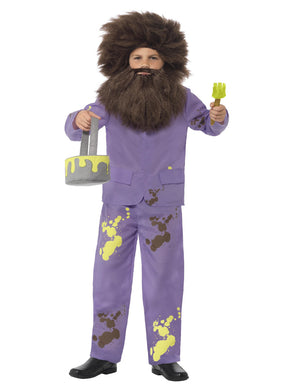 Children's Fancy Dress Roald Dahl Mr Twit Costume, Purple, Jacket, Trousers, Wig, Beard, Paint Pot & Brush