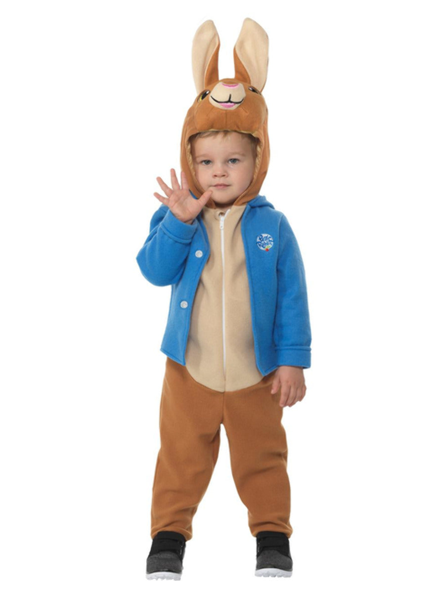 Peter Rabbit Deluxe Toddler Costume, Blue, with Jumpsuit, Character Hood & Jacket.