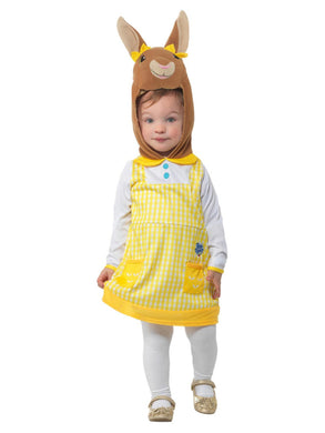 Peter Rabbit, Cottontail Deluxe Costume, Yellow, with Dress & Attached Character Hood.