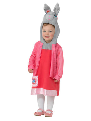 Peter Rabbit, Lily Bobtail Deluxe Costume, Pink, with Dress & Attached Character Hood.