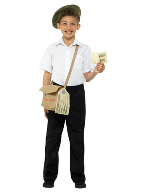 Fancy dress  Evacuee Instant Kit, Brown, with Hat, Bag & Ration Book
