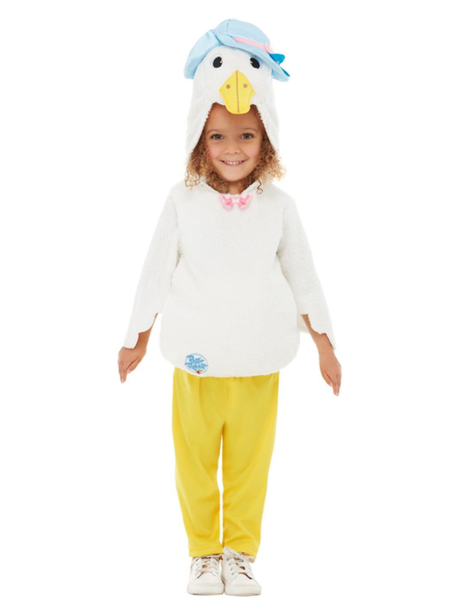 Peter Rabbit Deluxe Jemima Puddle-Duck Costume, Yellow, with Trousers, Padded Top & Hooded Character Head
