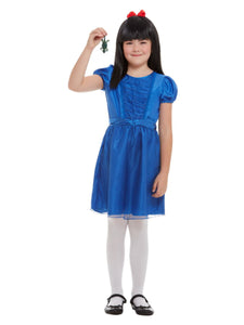 Roald Dahl Fancy Dress Matilda Deluxe Costume, Blue Dress, Wig and Newt.