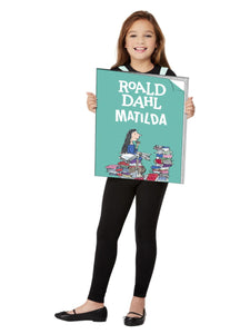 Roald Dahl Matilda Book Cover Costume, Tabard, Turquoise.  Perfect for World Book Day