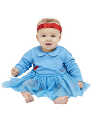 Roald Dahl Baby Fancy Dress Matilda Costume, Blue TuTu all in one with Red Headband.