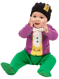 Roald Dahl Willy Wonka Baby Fancy Dress Costume, Purple, All In One with Hat.