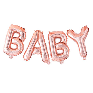 Rose Gold Baby Shower Balloon Bunting
