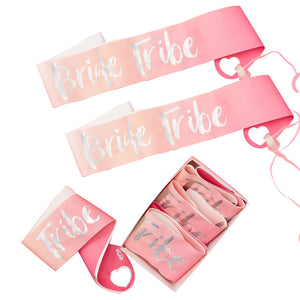 6 PACK BRIDE TRIBE HEN PARTY SASHES