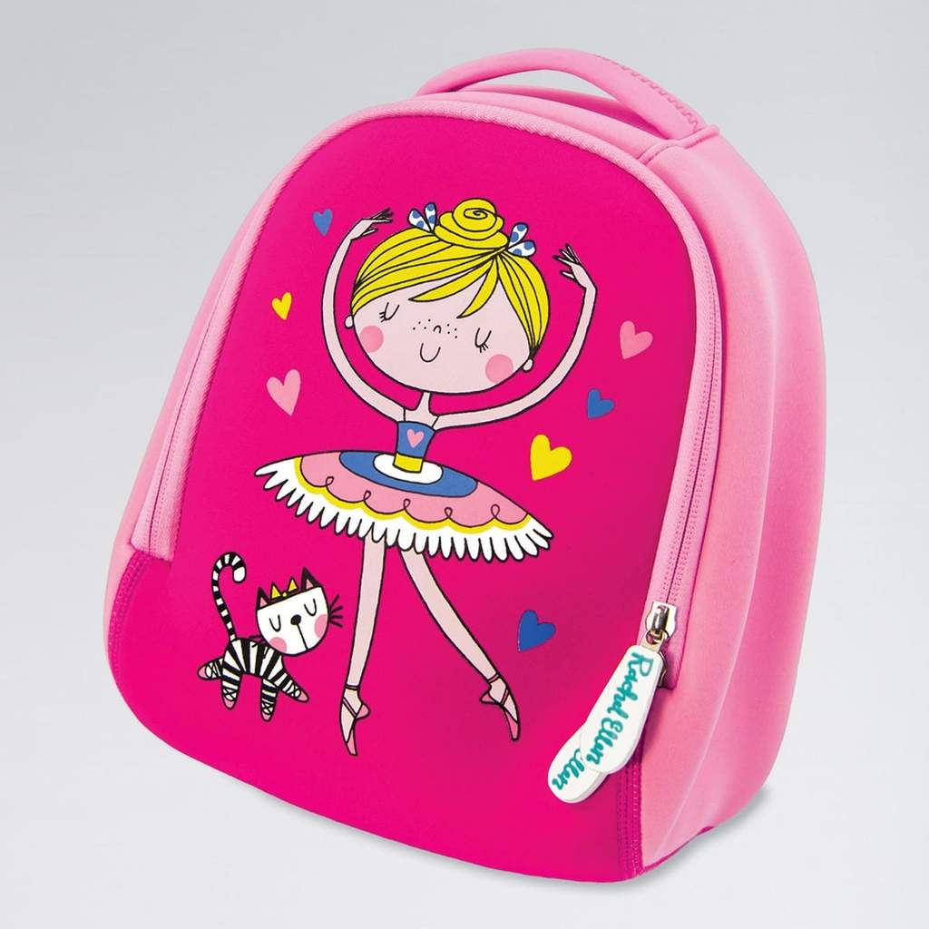 Pink Neoprene Ballerina Backpack