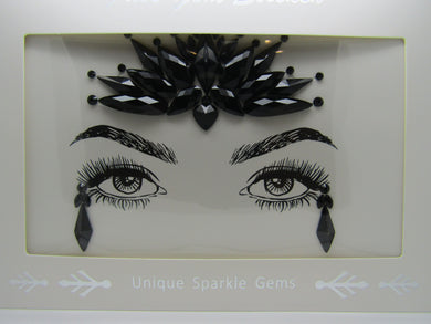 beautiful black Face Gem's to make a statement at any event. These are a perfect way to frame and show off your beautiful eyes and face.