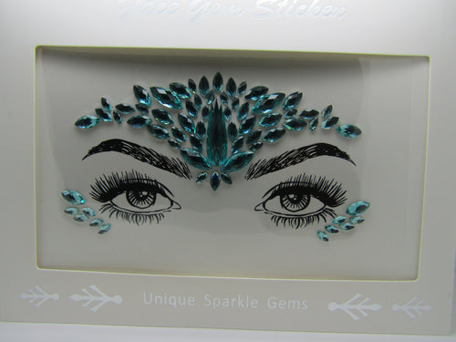 beautiful Face Gem in Green to really stand out in a crowd. These are perfect to frame and show off your beautiful eyes and face