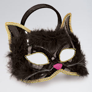 This stylish Marabou / Glitter Cat Mask is an excellent way to create your realistic cats.  Black marabou with a glitter effect to the ears.