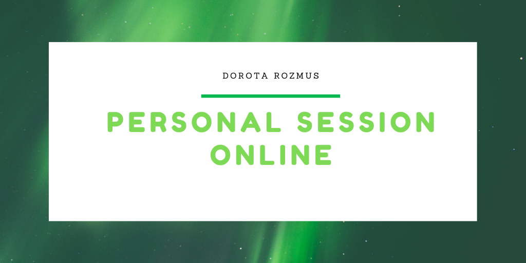 4 x  Personal session online - Special offer 50% off
