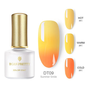 BORN PRETTY 6ML Thermal 3-layers UV Gel Polish Soak Off Nail Art Gel  Varnish 12 Colors