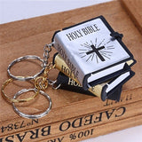 New Mini Bible Keychain English Holy Bible Book Religious Christian Jesus Key chain Key ring Prayer God Bless Gift